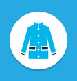 coat icon colored symbol premium quality isolated vector image vector image