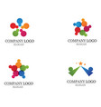 community people care logo and symbols template vector image vector image