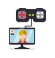 computer controller game character gamer vector image
