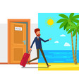 concept vacation vector image vector image