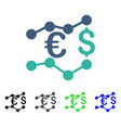 currency charts flat icon vector image vector image