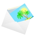 Envelope with a card vector image vector image