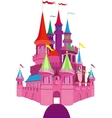 Fairy-tale Pink Castle vector image