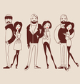 fashion people man and woman vector image