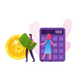financial success people collecting and saving vector image