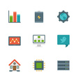 Flat design icons symbols for website vector image vector image