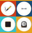 flat icon appliance set of cpu resistor hdd and vector image vector image