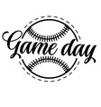 game day on white background vector image vector image
