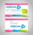 gift card voucher business banner vector image vector image