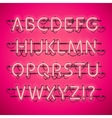 Glowing Neon Pink Alphabet vector image