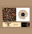 greeting cards design idea for sweets shop vector image vector image