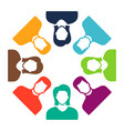 group of people icon team symbol communication vector image vector image