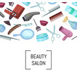 hairdresser or barber cartoon elements vector image vector image