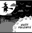 halloween night greeting card vector image