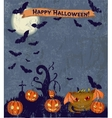 Halloween poster with cute monster vector image