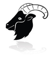 head goat drawing brush with shadow vector image