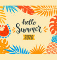 hello summer 2020 tropical banner vector image vector image