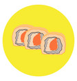 isolated group of sushi rolls vector image