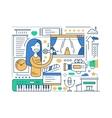 Karaoke - line design composition vector image vector image