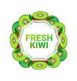 kiwi fruit colorful circle copy space organic over vector image