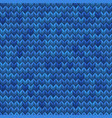 light and dark blue knit seamless pattern eps 10 vector image vector image