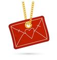 Love letter message in envelope Label tag hanging vector image