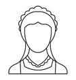 Maid icon outline style vector image