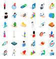 man icons set isometric style vector image