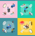 mass media news banner card set isometric view vector image vector image