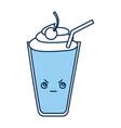 milkshake glass kawaii character vector image vector image