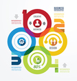 Modern Design infographic circle templatecan vector image vector image
