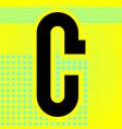 modern font trendy alphabet black letter on a vector image