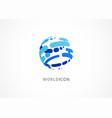 modern logo template abstract world icon fintech vector image vector image