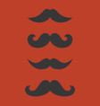 mustache collection for hipster vector image