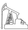 Oil pumpjack Oil industry equipment vector image