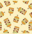 pattern burger vector image