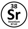 Periodic table element strontium icon