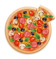 pizza realistic fast food eating tasty products vector image