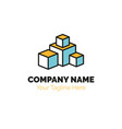 real estate logo design template building vector image