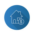 real estate market flat linear long shadow icon vector image