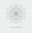 sacred geometry line element flower of life vector image vector image