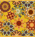 seamless multicolor pattern with oriental mandalas vector image vector image