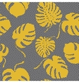 seamless pattern made from monstera leaves vector image