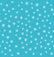 seamless pattern snowflakes on blue background vector image vector image