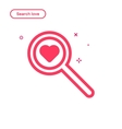 search love concept in flat vector image