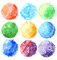 set of abstract halftone colorful circles vector image vector image