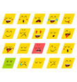 set of emoticons stickers emoji vector image vector image