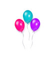 shiny balloon birthday party decoration element vector image vector image