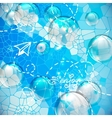 shiny bubbles in blue sky vector image