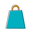 shopping bag isolated cartoon vector image